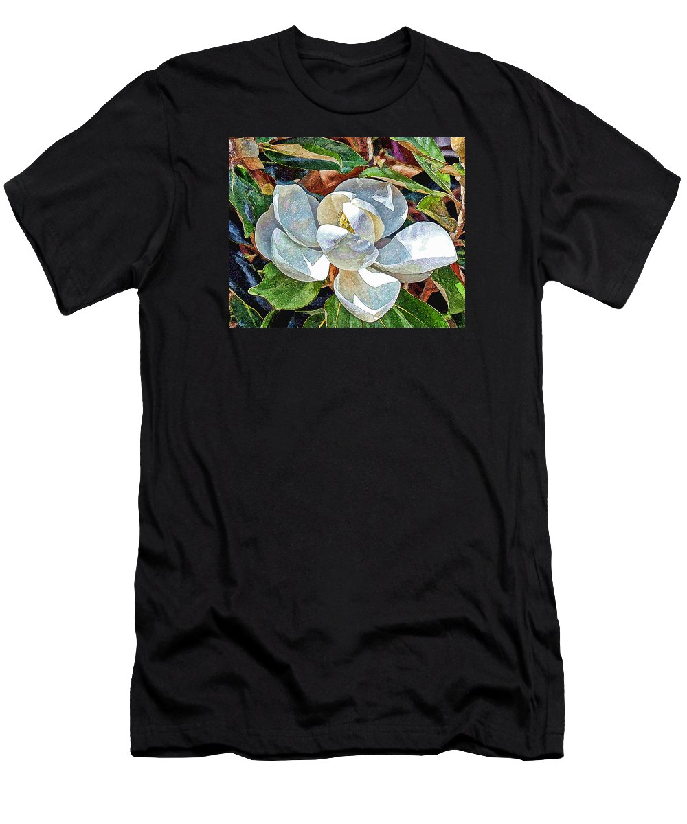 Flower Men's T-Shirt (Athletic Fit) featuring the photograph White Flower by Don and Sheryl Cooper
