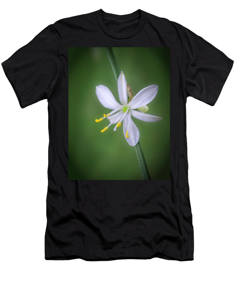 Abstract Men's T-Shirt (Athletic Fit) featuring the photograph White Flower by Lynn Geoffroy