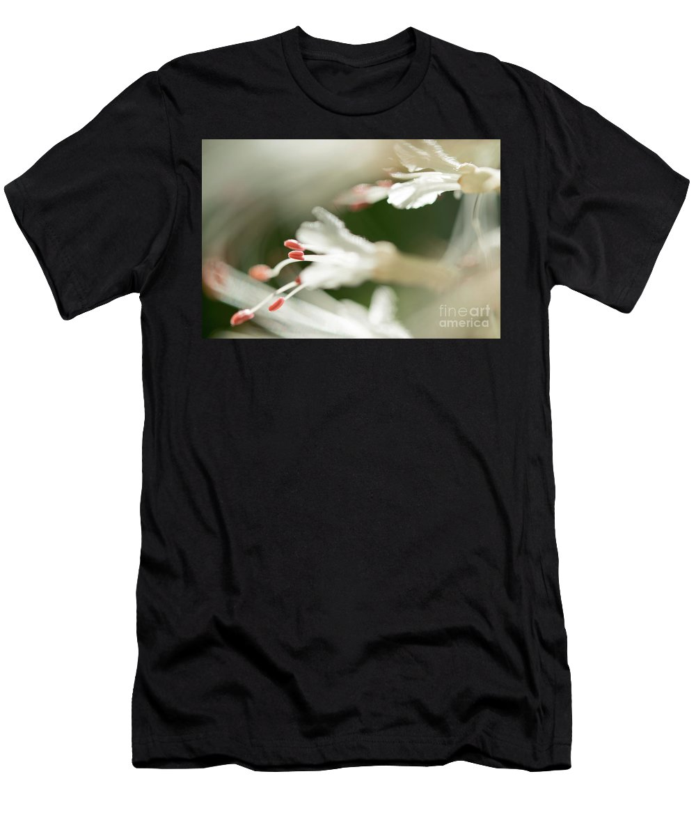 Ohio Flower Men's T-Shirt (Athletic Fit) featuring the photograph White Bottlebrush Buckeye by Michelle Himes