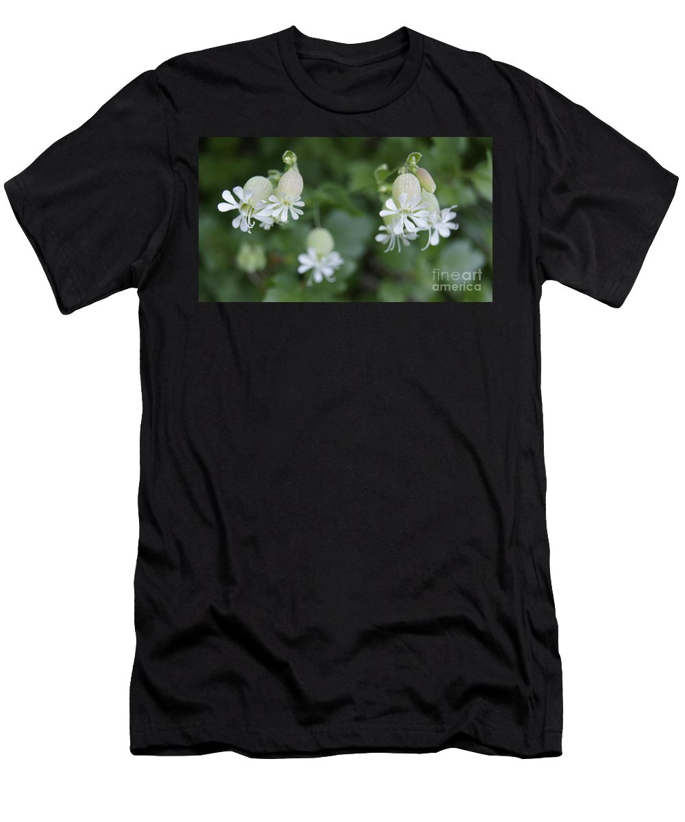 Cmouai Men's T-Shirt (Athletic Fit) featuring the photograph White Flowers by Line Gagne