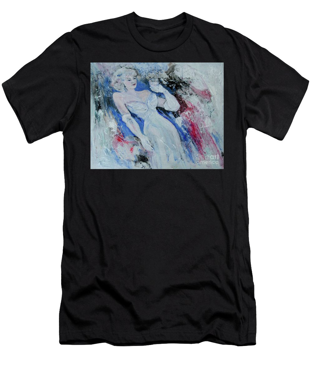 Gown Men's T-Shirt (Athletic Fit) featuring the painting White Gloves by Caren Keyser