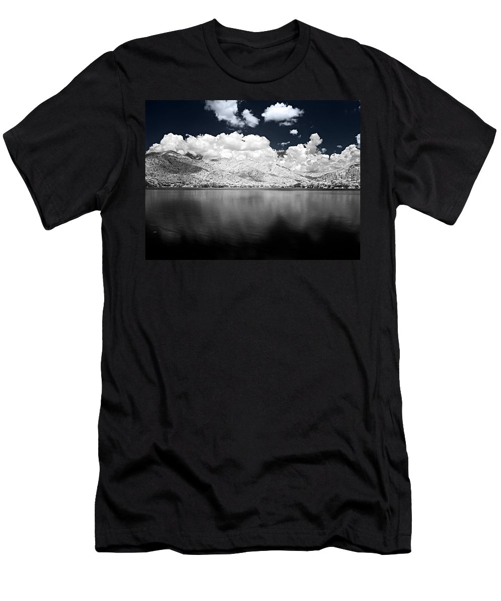 Infrarred Men's T-Shirt (Athletic Fit) featuring the photograph White Land by Galeria Trompiz
