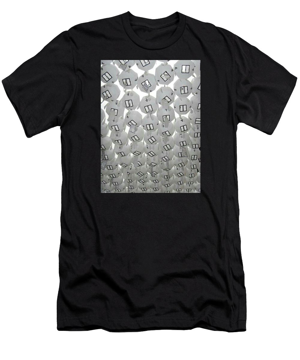 Photo Men's T-Shirt (Athletic Fit) featuring the photograph White Lanterns by Elyse Fehrenbach