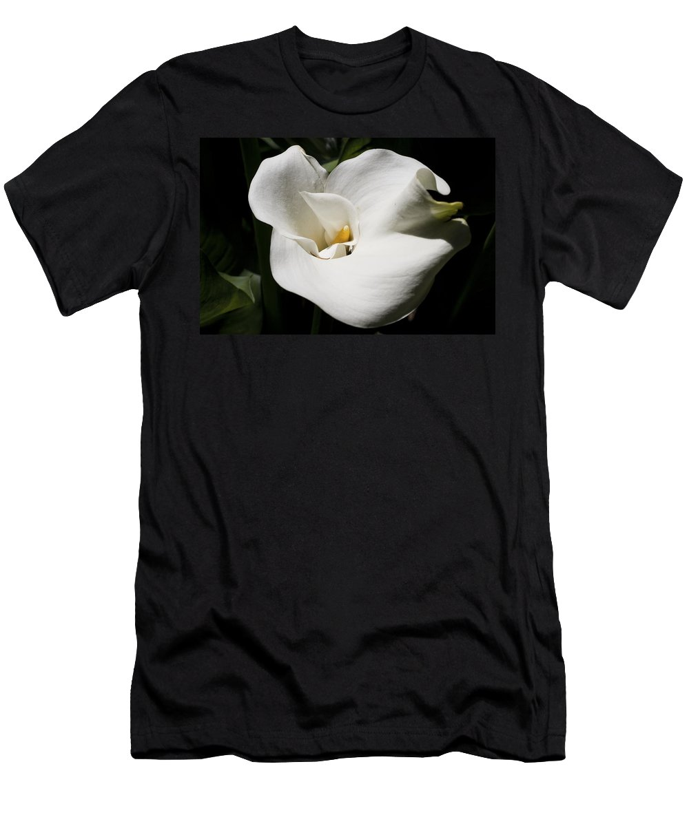 Granger Photography Men's T-Shirt (Athletic Fit) featuring the photograph White Lily by Brad Granger