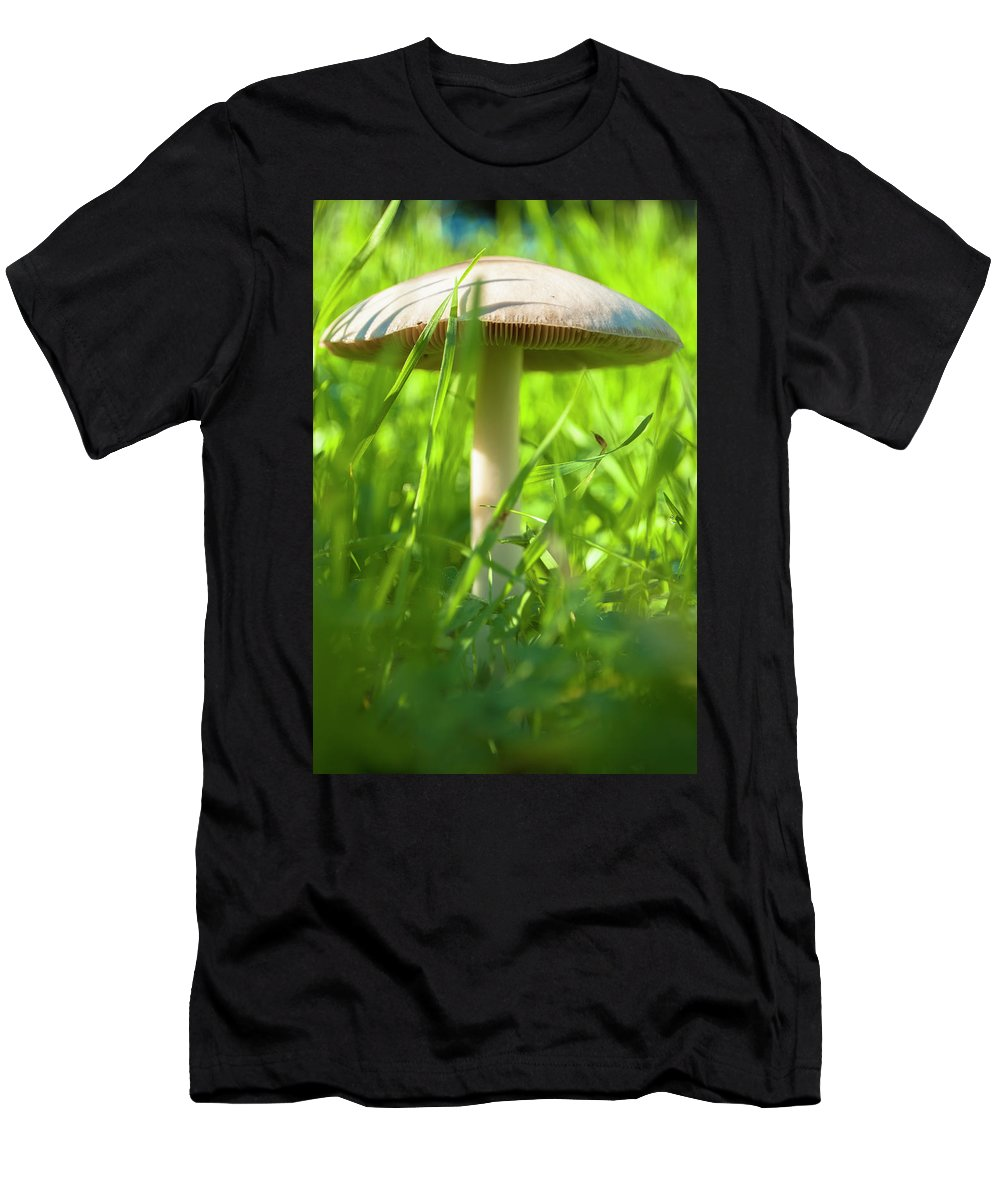 Photography Men's T-Shirt (Athletic Fit) featuring the photograph White Mushroom #2 by Ignacio Leal Orozco
