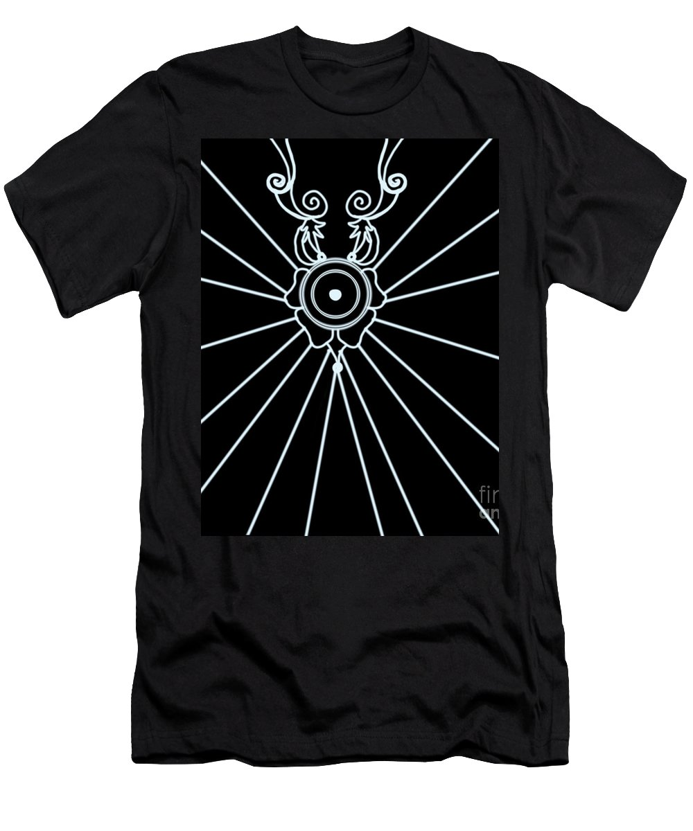 White Men's T-Shirt (Athletic Fit) featuring the drawing White Opal by Artist Nandika Dutt