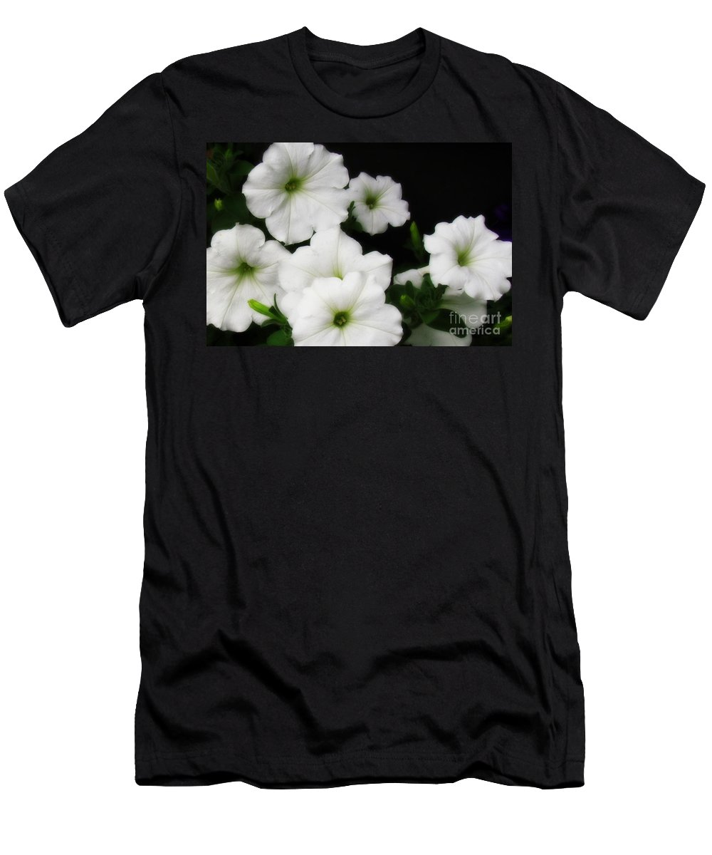 White Petunias Photographed 6/28/16 Montrose Men's T-Shirt (Athletic Fit) featuring the photograph White Petunias by Krista Carofano
