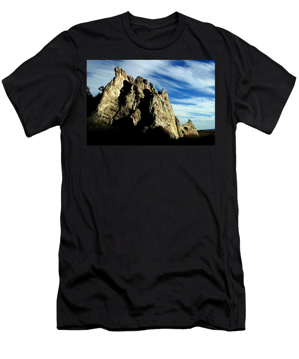 Garden Of The Gods Men's T-Shirt (Athletic Fit) featuring the photograph White Rocks by Anthony Jones