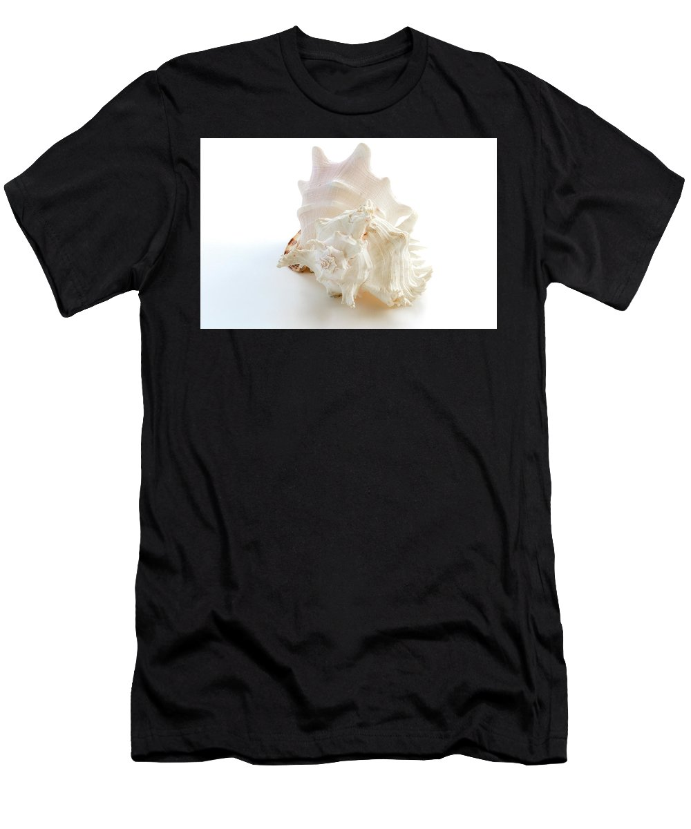 Shells Men's T-Shirt (Athletic Fit) featuring the photograph White Shells by Wolfgang Stocker