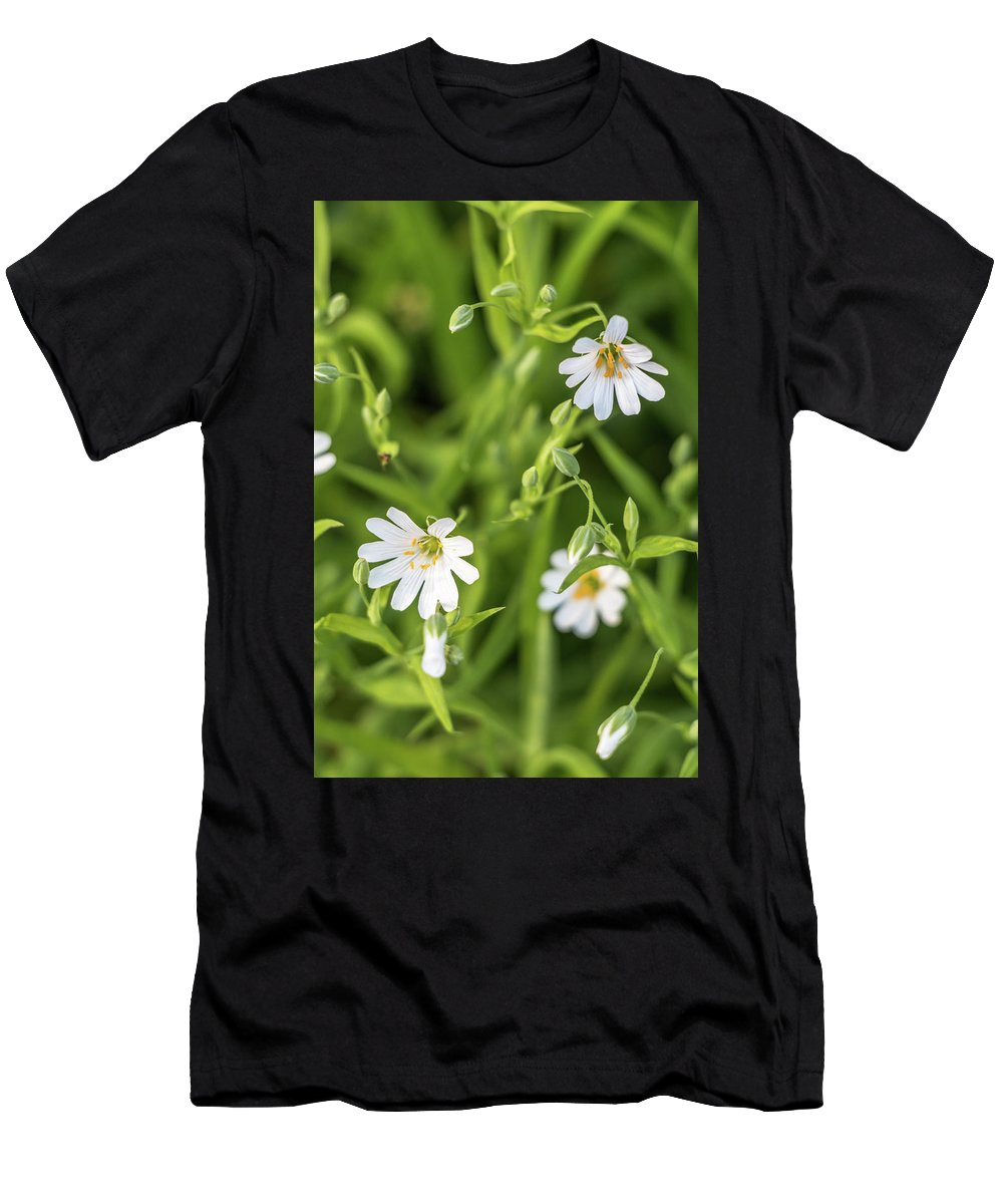 Spring Men's T-Shirt (Athletic Fit) featuring the photograph White Spring Flowers by Alex Konakov