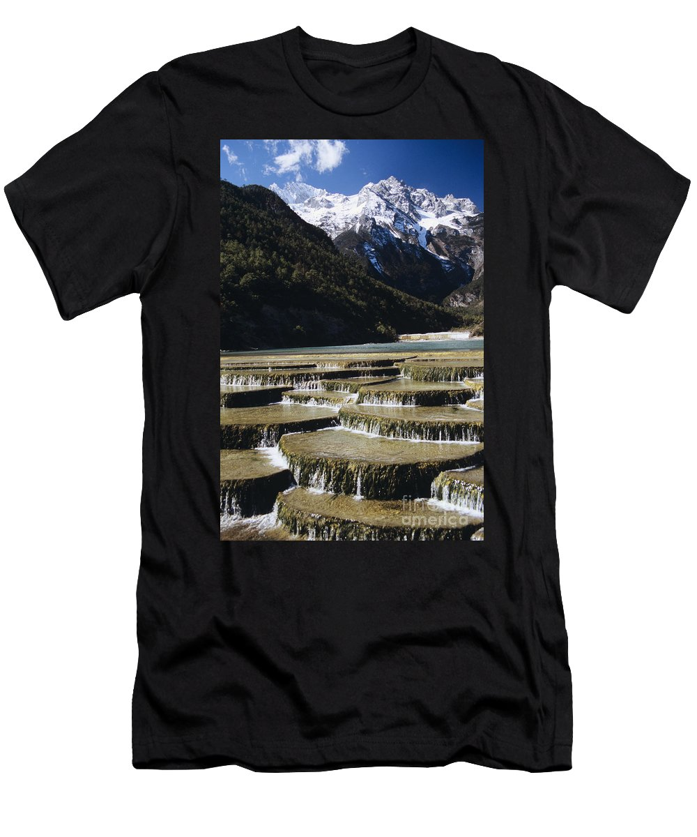 Asian Art Men's T-Shirt (Athletic Fit) featuring the photograph White Water River - Lijiang by Gloria & Richard Maschmeyer - Printscapes