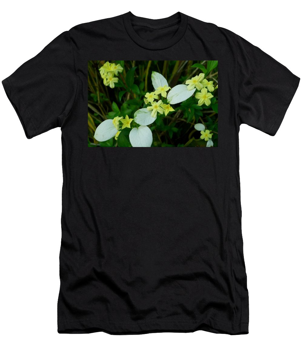 White Wings Men's T-Shirt (Athletic Fit) featuring the painting White Wings 4 by Jeelan Clark
