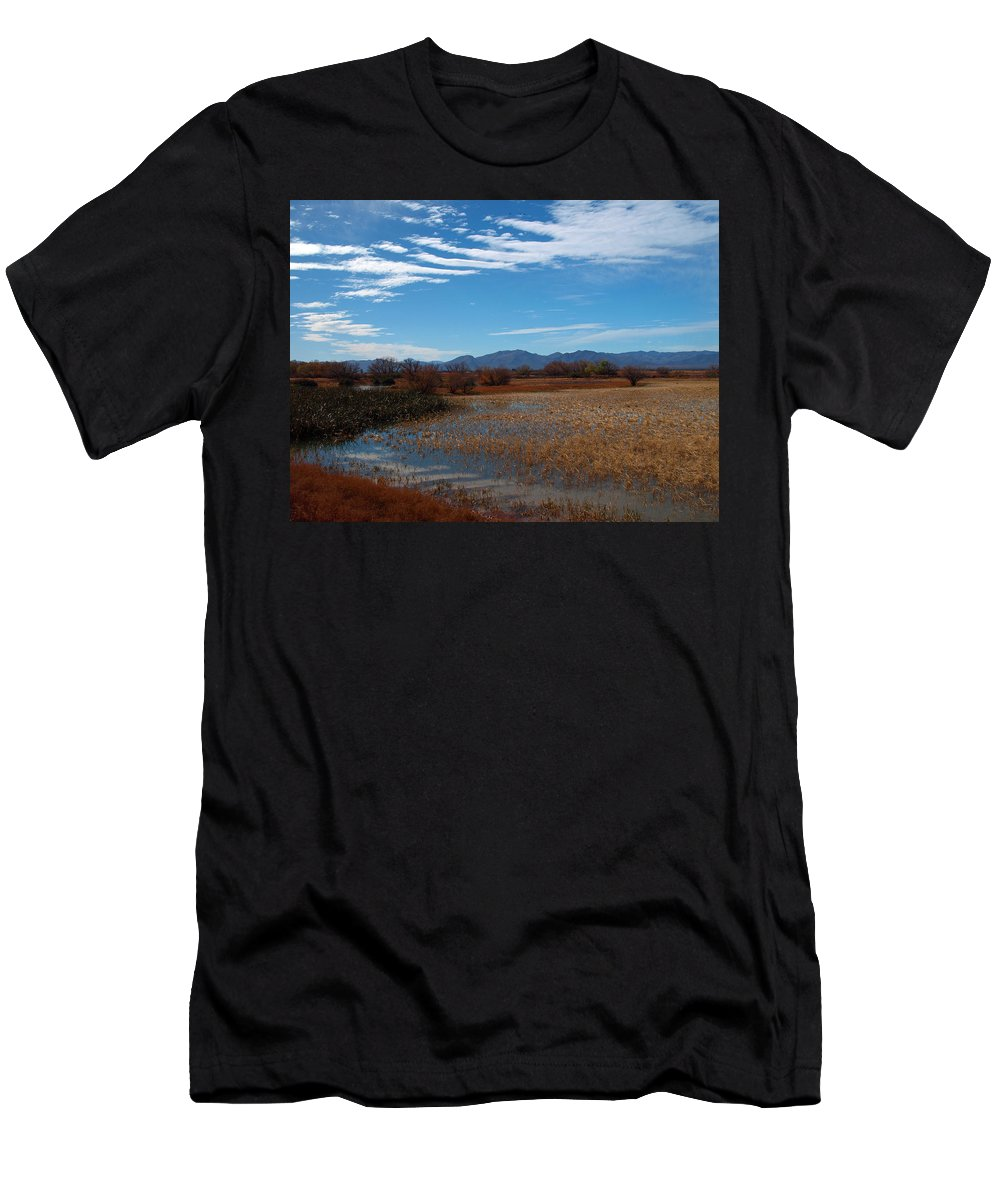 Peterson Nature Photography Men's T-Shirt (Athletic Fit) featuring the photograph Whitewater Draw by James Peterson