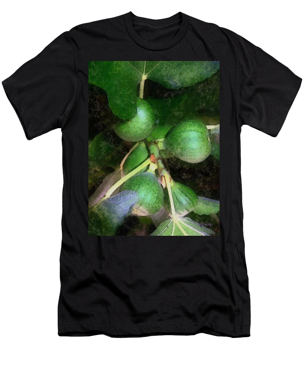 Fig Tree Men's T-Shirt (Athletic Fit) featuring the digital art Who Gives A Fig by RC DeWinter