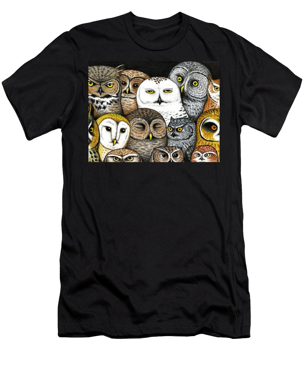Art Men's T-Shirt (Athletic Fit) featuring the painting Who's Hoo by Don McMahon