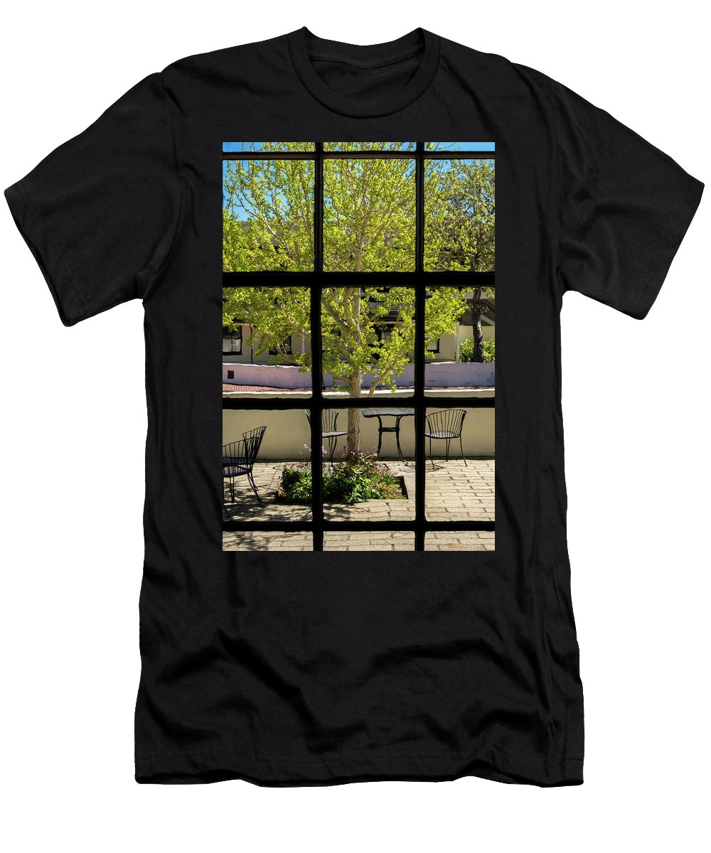 Landscape Men's T-Shirt (Athletic Fit) featuring the pyrography Wiew Out The Window by Javier Flores