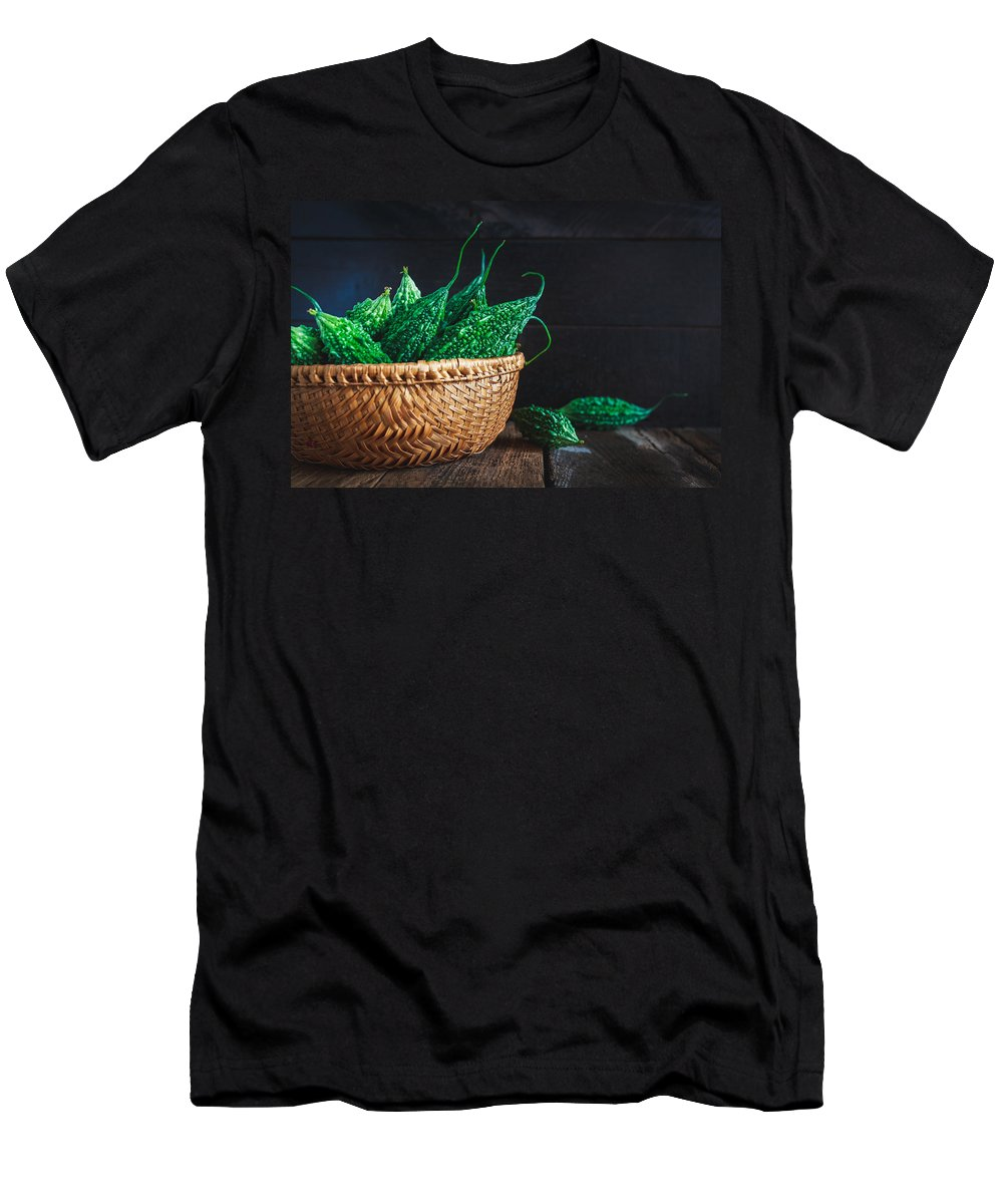 Food Men's T-Shirt (Athletic Fit) featuring the photograph Wild Bittermelons by Thanh Thu Thai