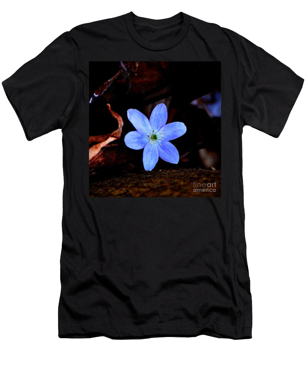Digital Photo Men's T-Shirt (Athletic Fit) featuring the photograph Wild Blue by David Lane
