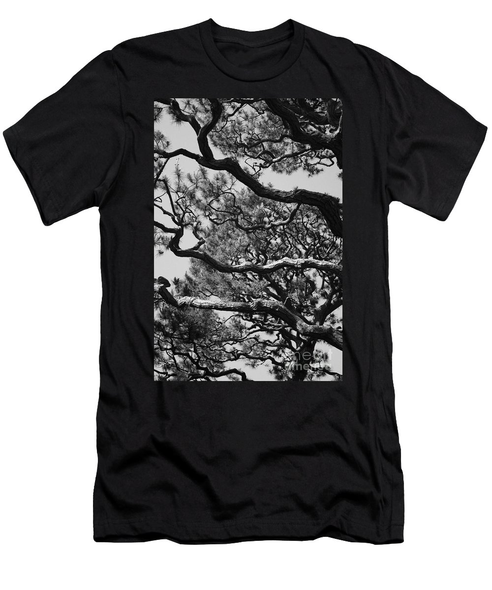 Wild Branches Men's T-Shirt (Athletic Fit) featuring the photograph Wild Branches by Carol Groenen