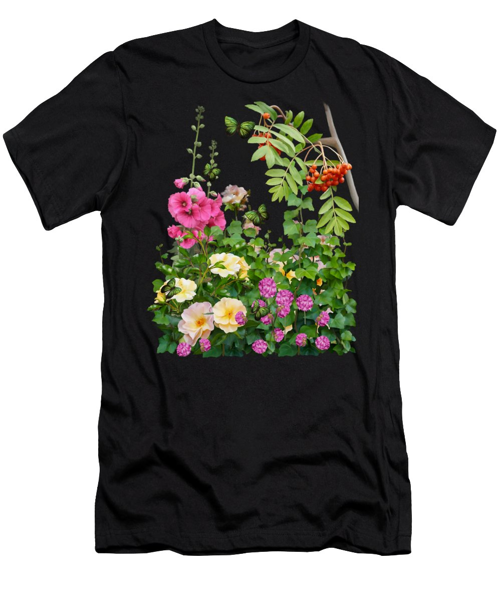 Painting Men's T-Shirt (Athletic Fit) featuring the painting Wild Garden by Ivana Westin