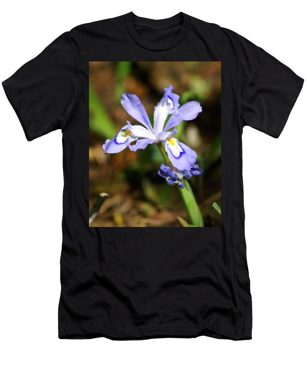Wild Iris Men's T-Shirt (Athletic Fit) featuring the photograph Wild Iris by Marty Koch