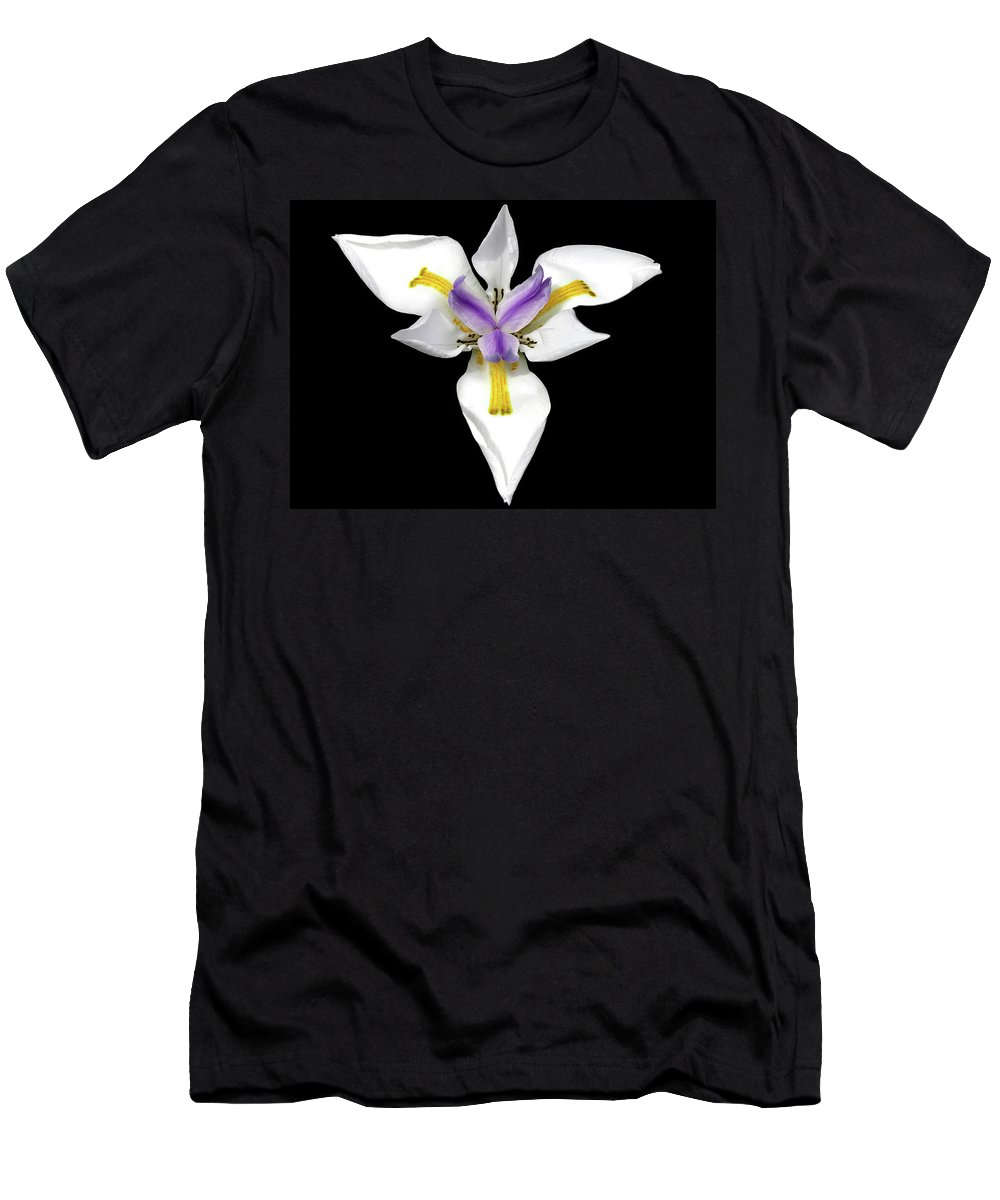 Flower Photos Men's T-Shirt (Athletic Fit) featuring the photograph Wild Lily by Maria Ollman