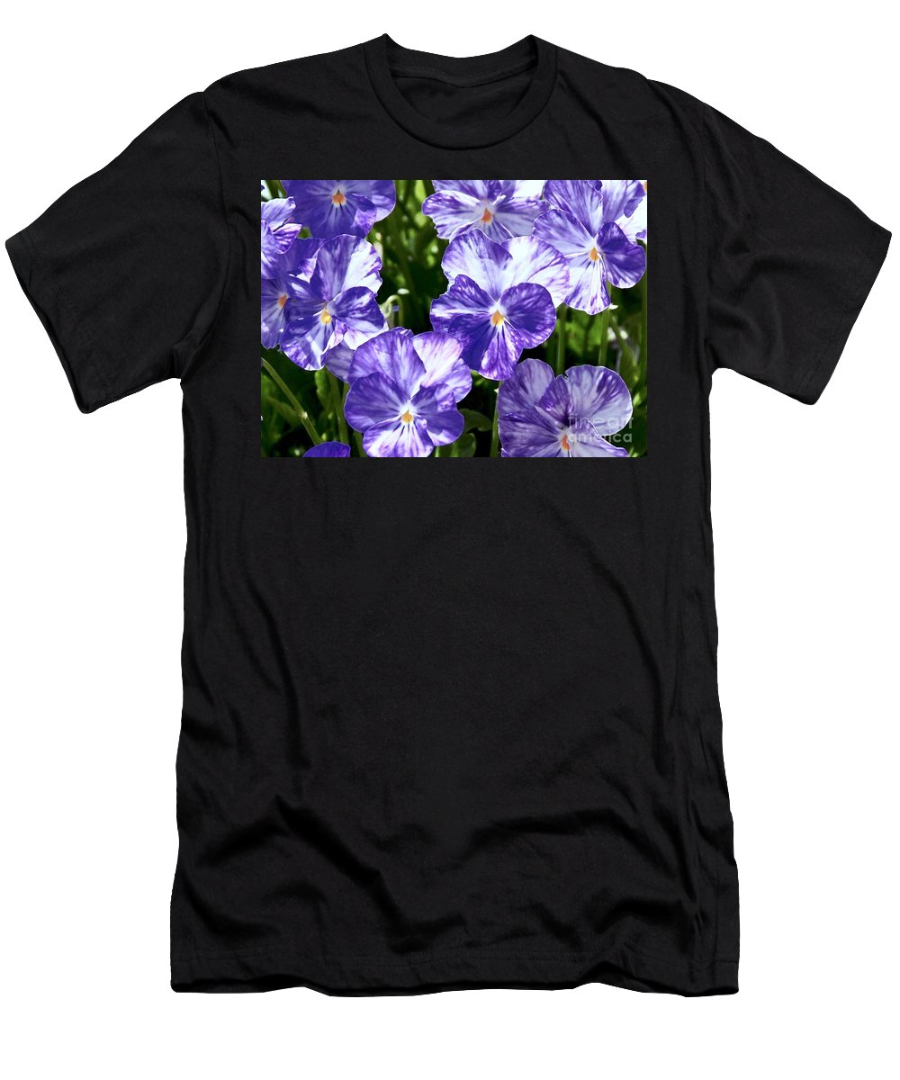 Men's T-Shirt (Athletic Fit) featuring the photograph Wild Mountain Flowers by Randy Morgan