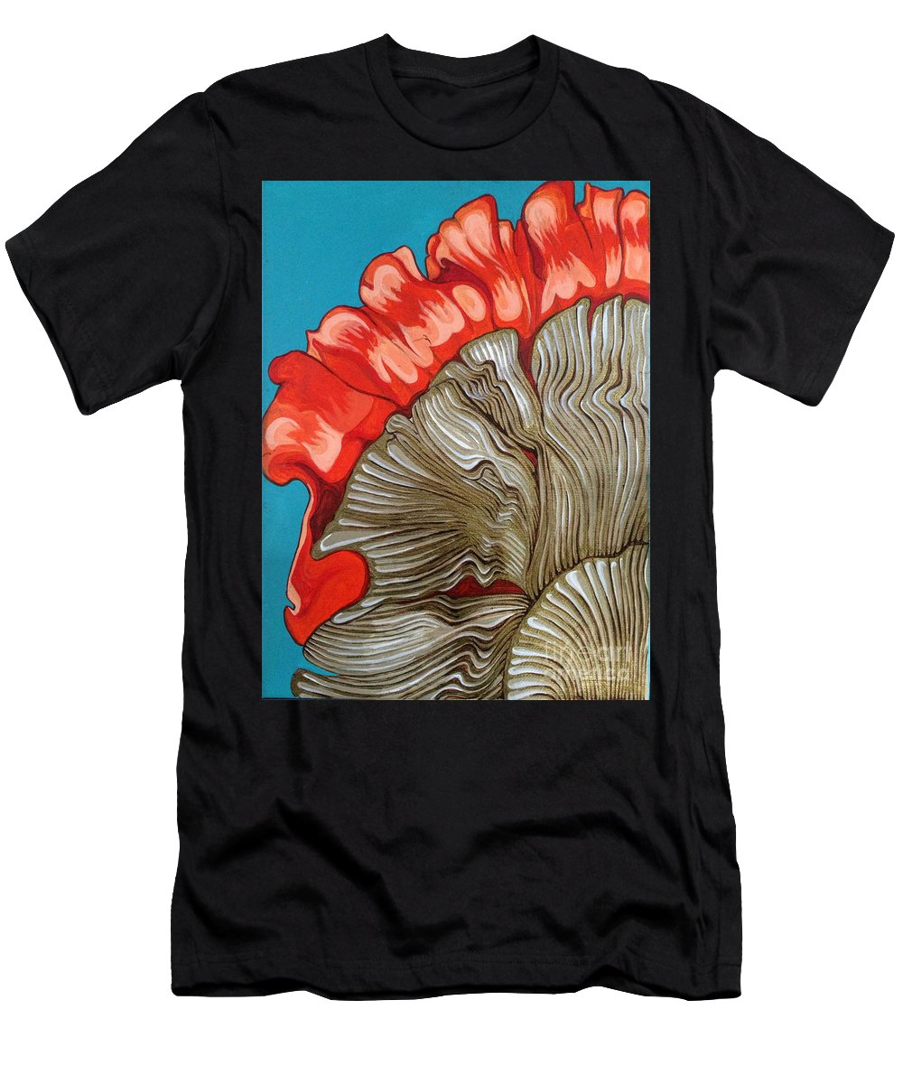 Mushrooms Men's T-Shirt (Athletic Fit) featuring the painting Wild Nourishment by Kathryn Crawford