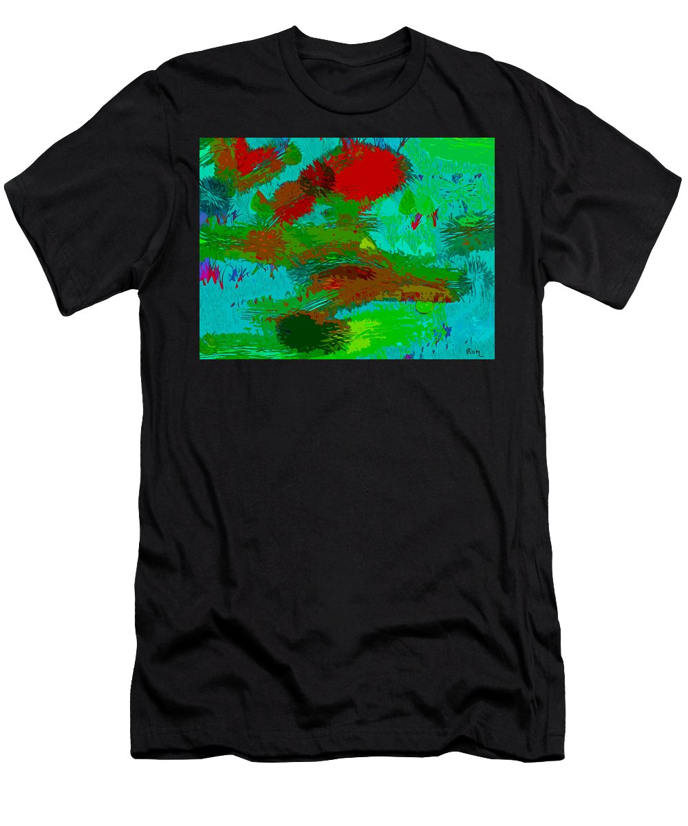 Abstract Circle Art Men's T-Shirt (Athletic Fit) featuring the painting Wild Things by Robert Margetts