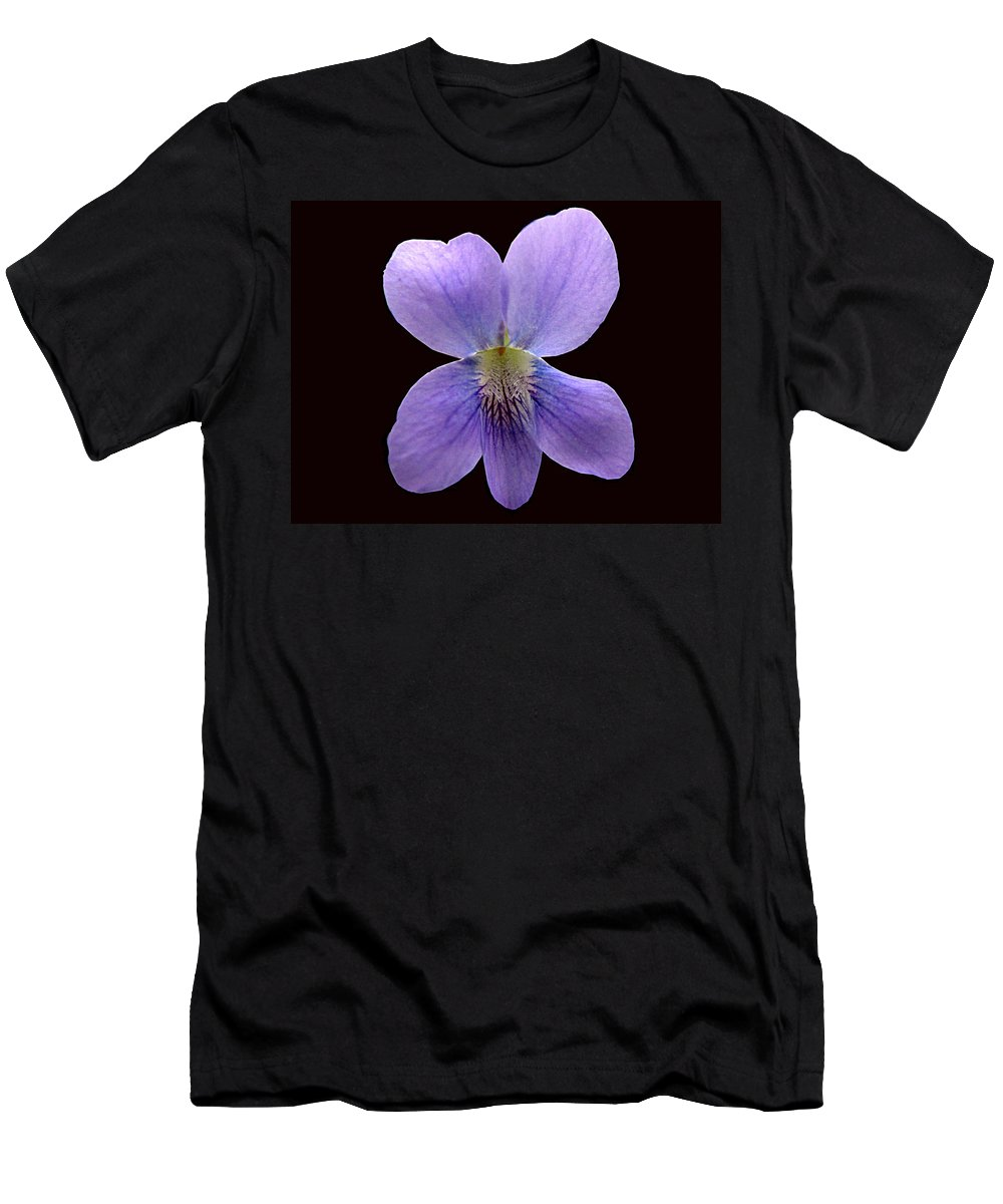 Violet Men's T-Shirt (Athletic Fit) featuring the photograph Wild Violet On Black by J M Farris Photography