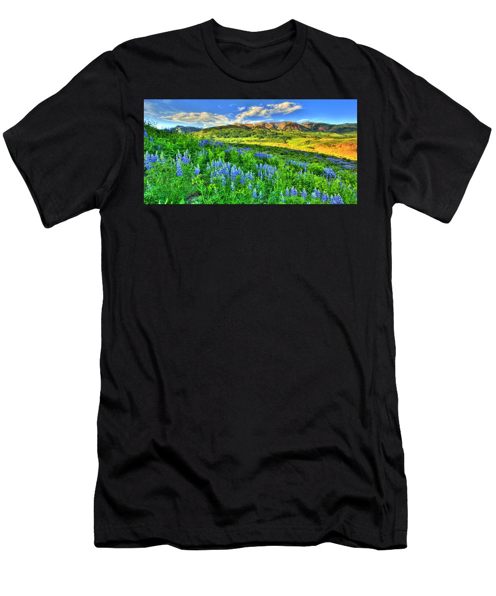 Wildflowers Men's T-Shirt (Athletic Fit) featuring the photograph Wildflower Wonder by Scott Mahon