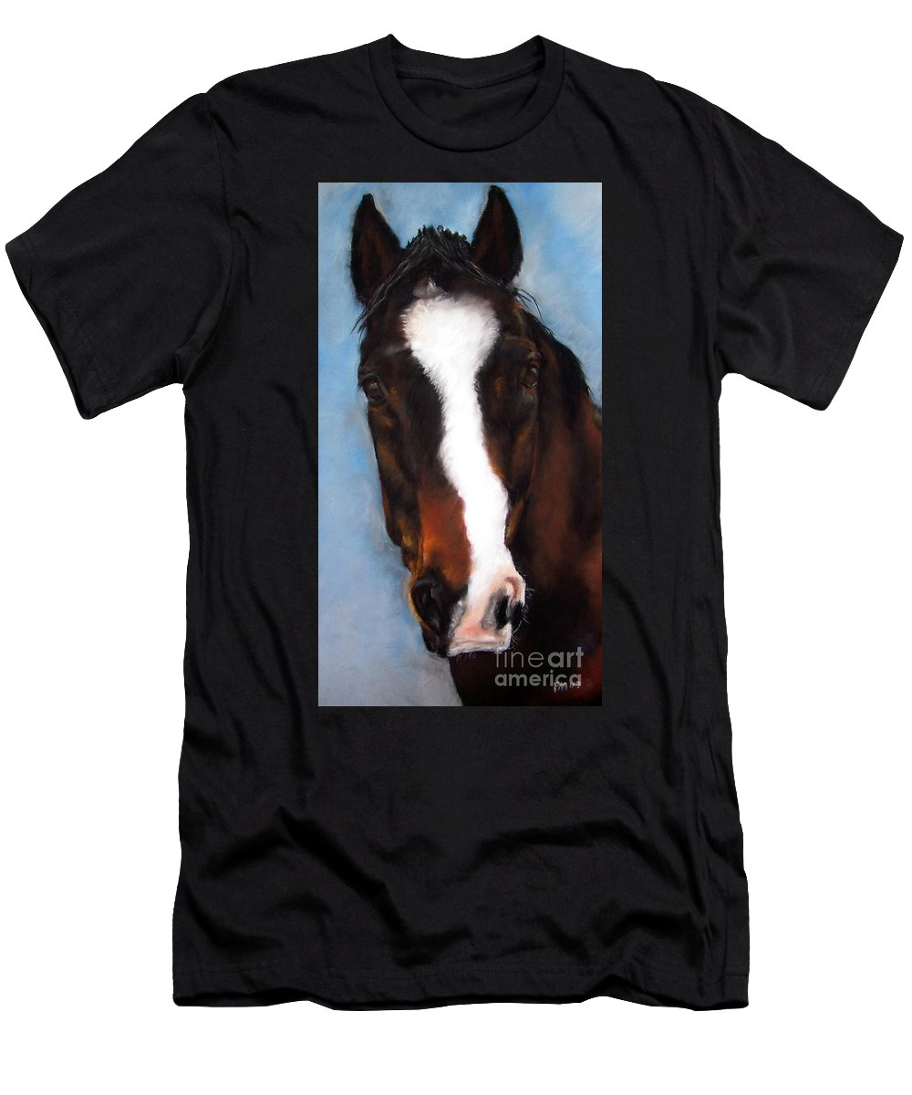 Horse Painting Men's T-Shirt (Athletic Fit) featuring the painting Willie Duke by Frances Marino