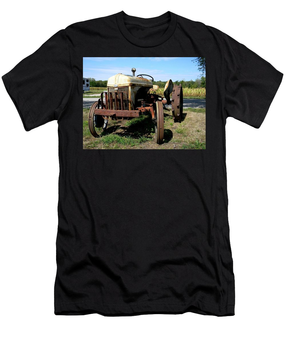 19th Century Rusty Relic Men's T-Shirt (Athletic Fit) featuring the photograph Willig Collection 4 by R John Ferguson