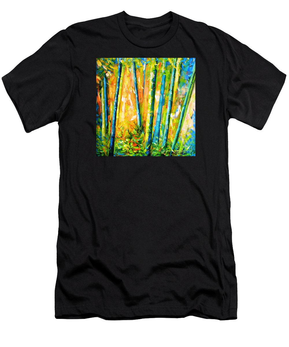 Nature Men's T-Shirt (Athletic Fit) featuring the painting Wind And Fire by Fernanda Cruz
