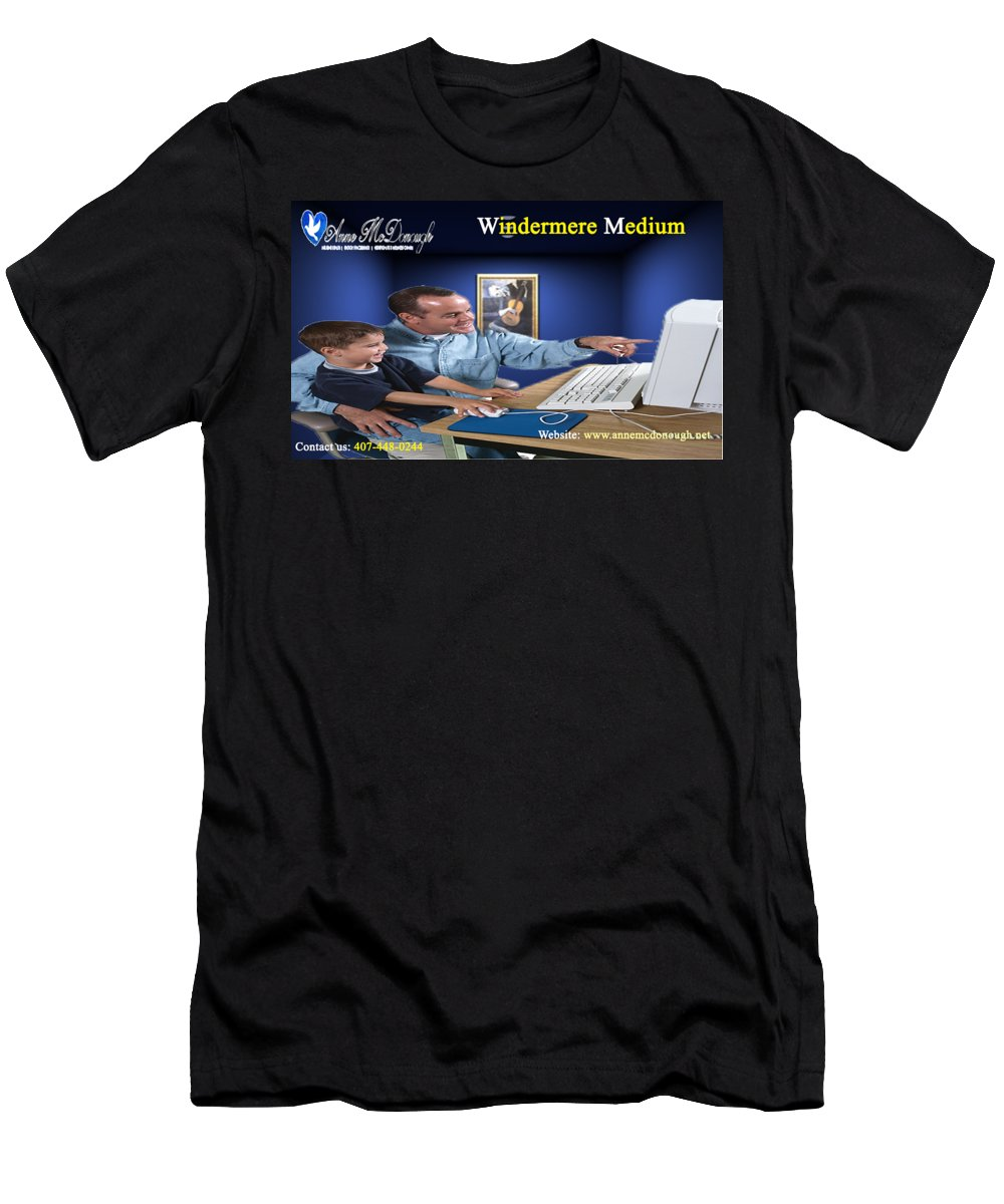 Windermere Medium Men's T-Shirt (Athletic Fit) featuring the digital art Windermere Medium by Anne McDonough