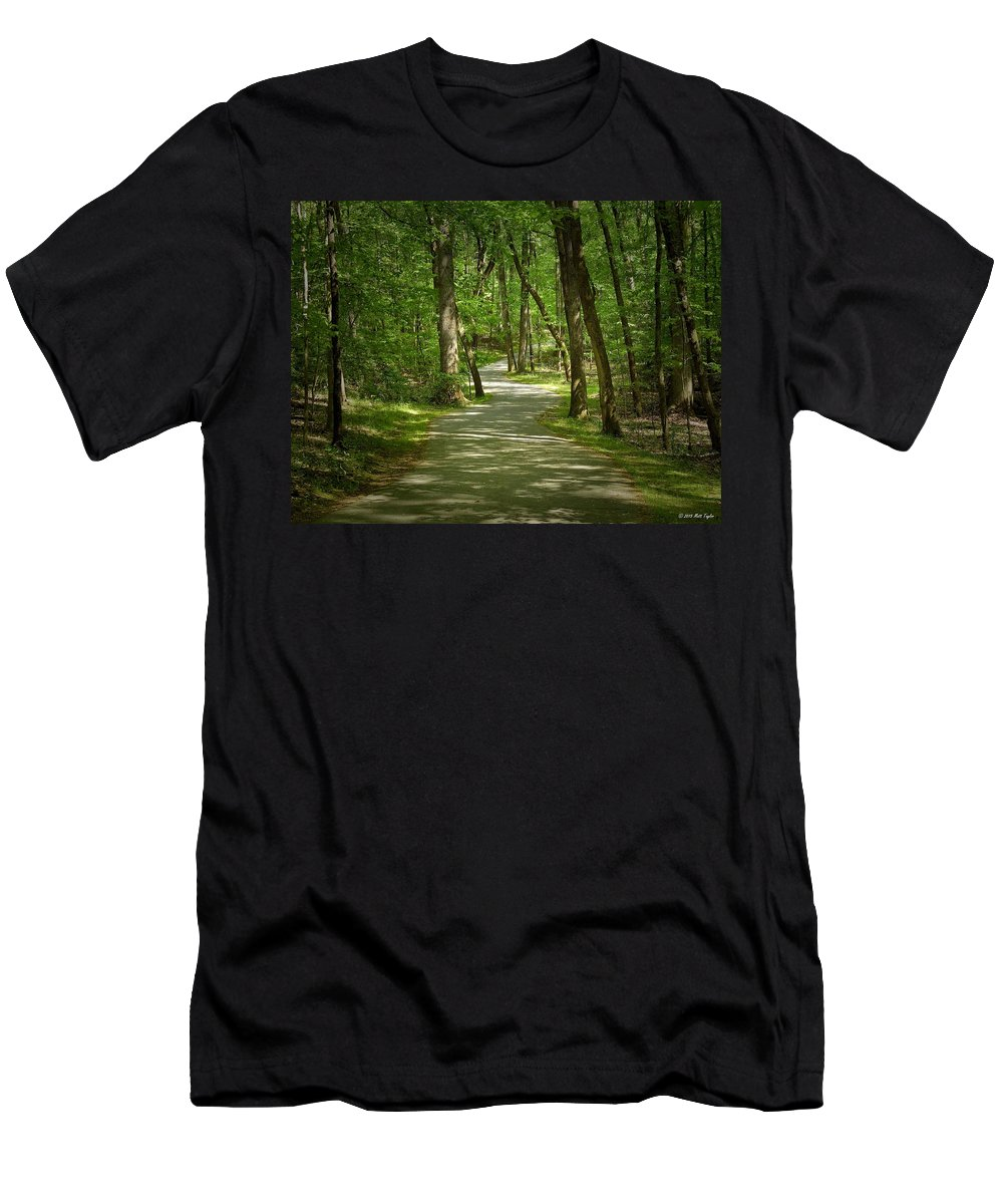 Nature Men's T-Shirt (Athletic Fit) featuring the photograph Winding Trails At Bur Mil Park by Matt Taylor