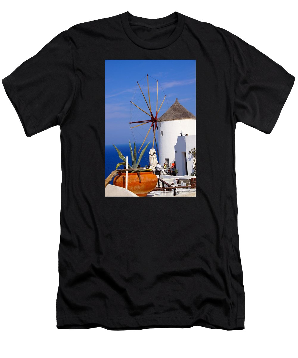 Windmill Men's T-Shirt (Athletic Fit) featuring the photograph Windmill Art by Ron Koivisto