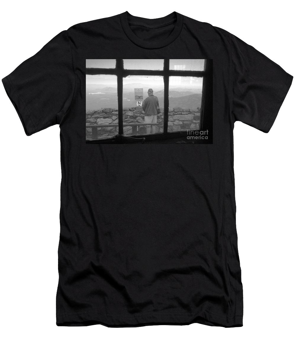 Windows Men's T-Shirt (Athletic Fit) featuring the photograph Window On White Mountain by David Lee Thompson