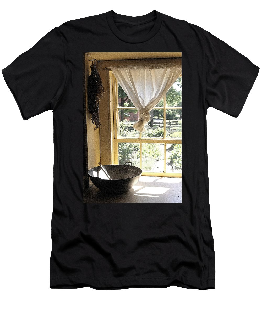 Window Men's T-Shirt (Athletic Fit) featuring the photograph Window On Yesterday by Nelson Strong