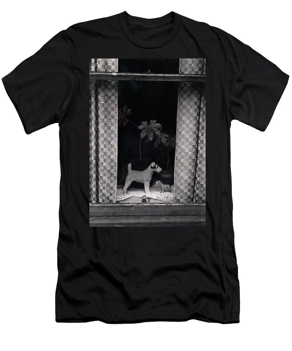 Photograph Men's T-Shirt (Athletic Fit) featuring the photograph Window Scene by Charles Stuart