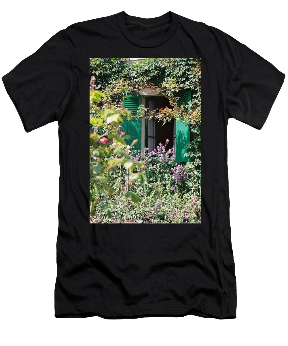 Charming Men's T-Shirt (Athletic Fit) featuring the photograph Window To Monet by Nadine Rippelmeyer