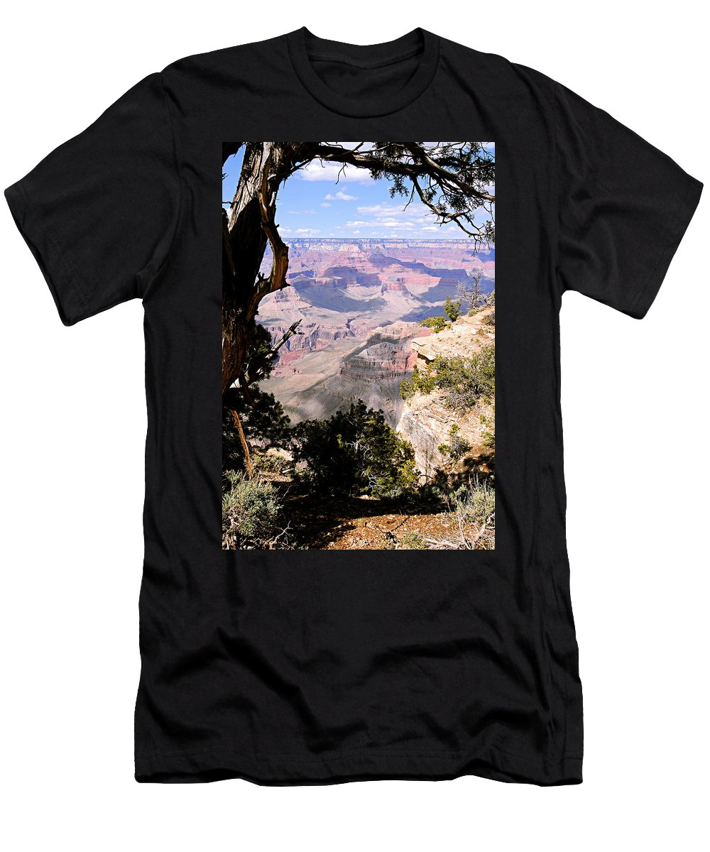 Grand Canyon National Park Men's T-Shirt (Athletic Fit) featuring the photograph Window To The Past 1 - Grand Canyon by Larry Ricker