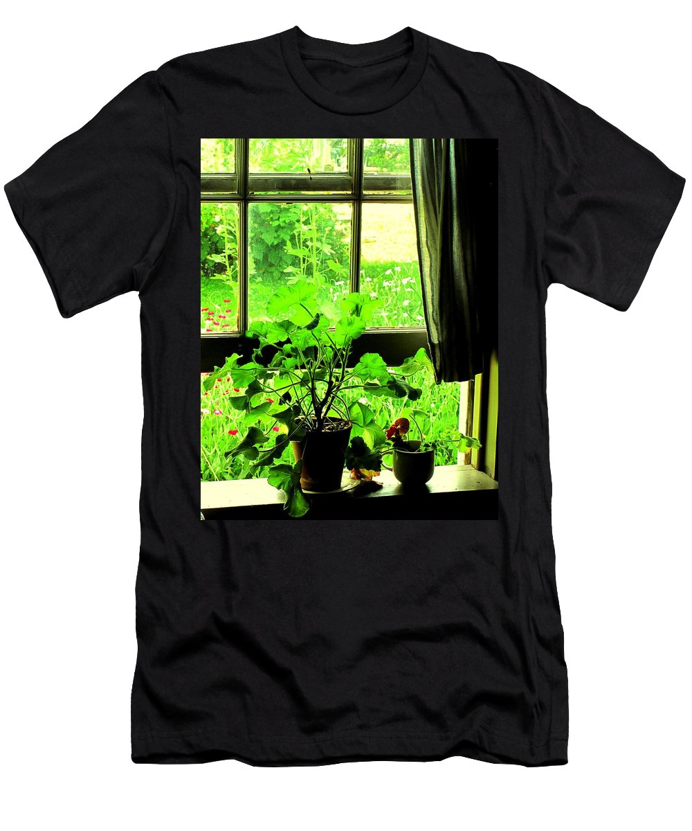 Pioneer Men's T-Shirt (Athletic Fit) featuring the photograph Window To The World by Ian MacDonald