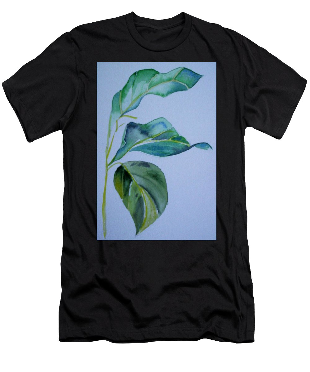 Nature Men's T-Shirt (Athletic Fit) featuring the painting Window View by Suzanne Udell Levinger
