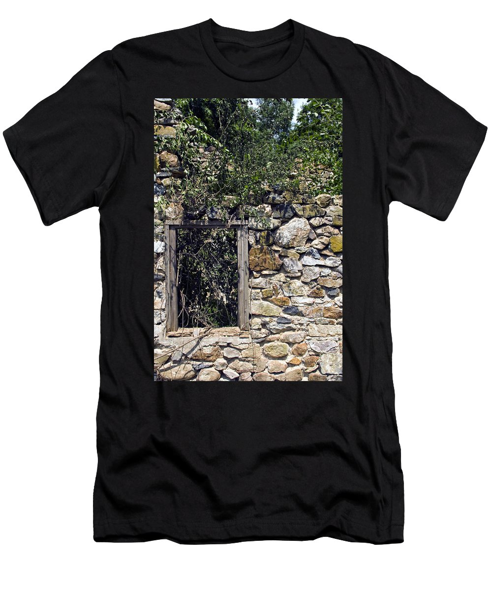 Ruin Men's T-Shirt (Athletic Fit) featuring the photograph Windowless by Scott Wyatt