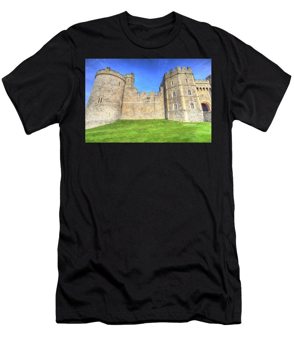 Windsor Castle Men's T-Shirt (Athletic Fit) featuring the photograph Windsor Castle by David Pyatt