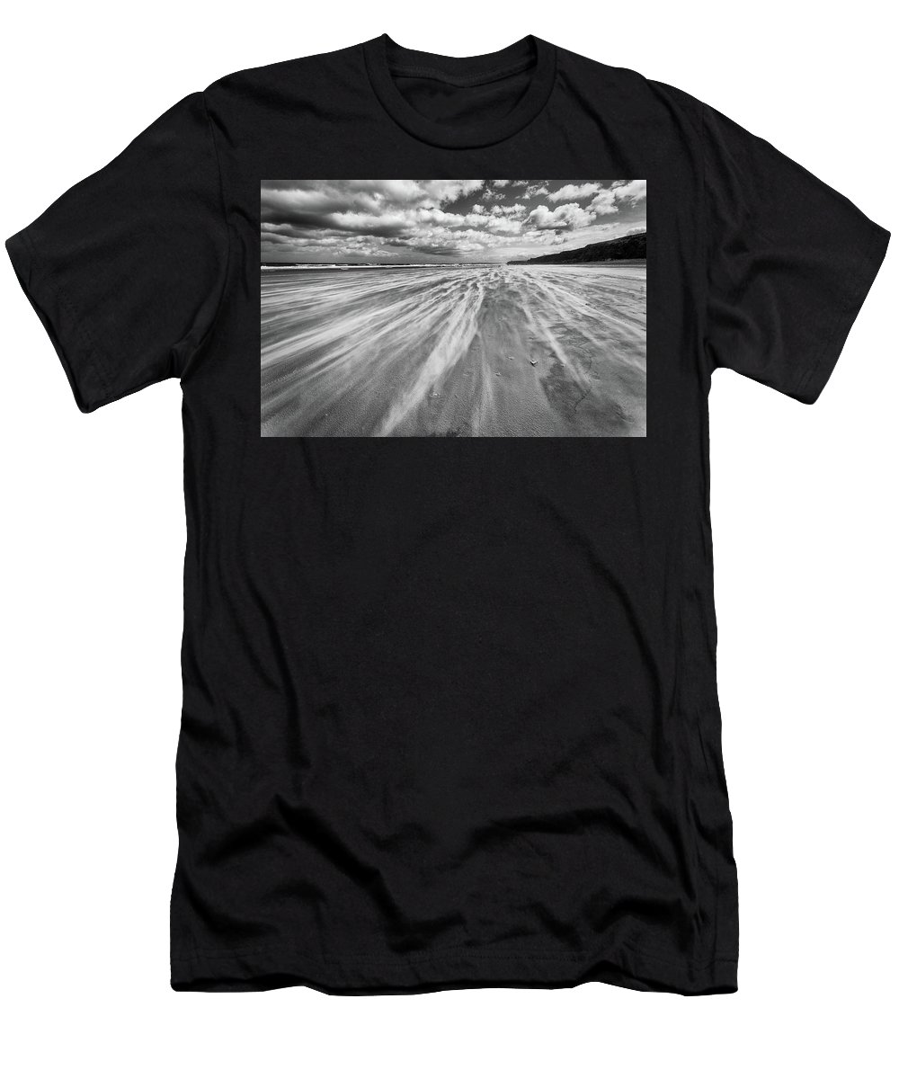 Benone Men's T-Shirt (Athletic Fit) featuring the photograph Windswept Benone by Nigel R Bell