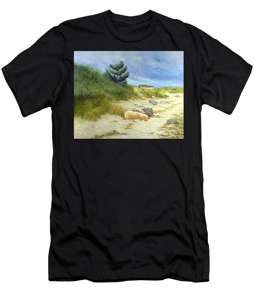 Men's T-Shirt (Athletic Fit) featuring the painting Windswept Sands by Tony Scarmato