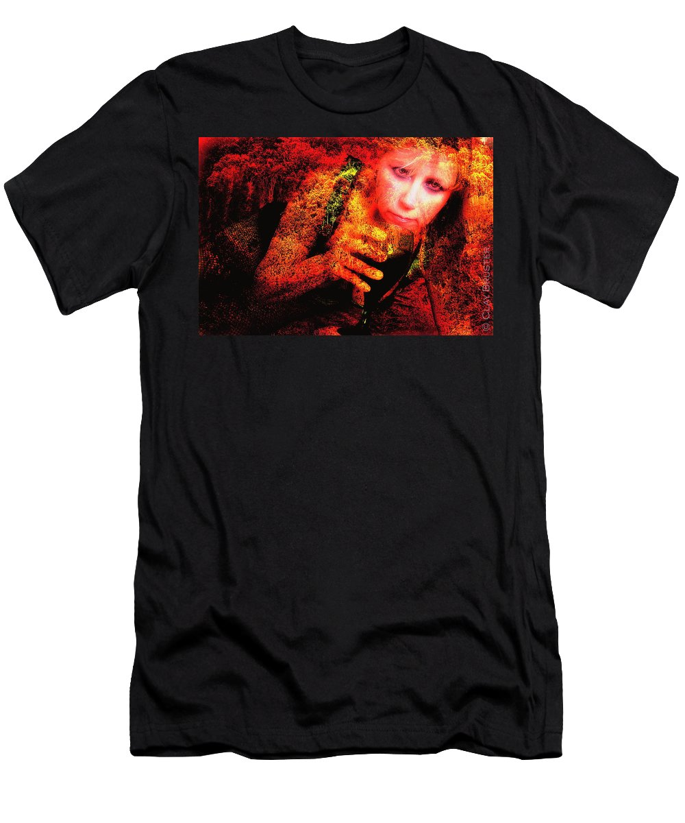 Clay Men's T-Shirt (Athletic Fit) featuring the photograph Wine Woman And Fall Colors by Clayton Bruster