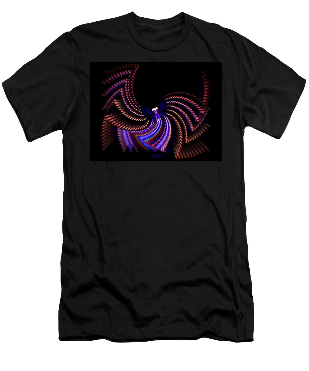 Chaos Men's T-Shirt (Athletic Fit) featuring the photograph Wings Of Light by Charles Stuart